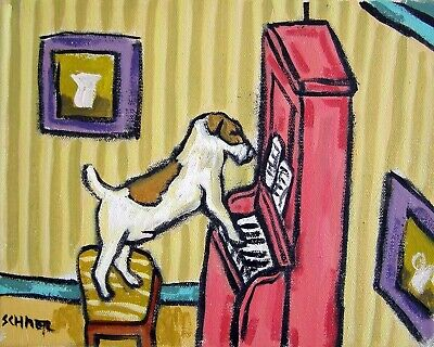 jack russell terrier dog abstract art  13x19 pop art  piano gift  GLOSSY PRINT