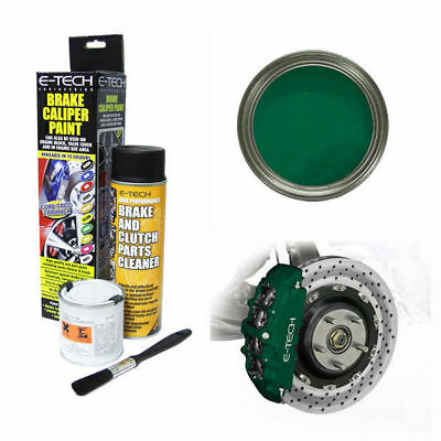 E-Tech Brake Caliper Paint Kit -Paint, Cleaning Spray+Brush - Brit Racing Green