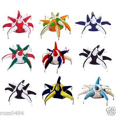 Football Rugby JESTER HAT Bells Selection Red Blue Black Navy Yellow White Sky