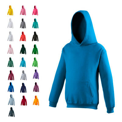 AWDis JH01J Kids Childs Childrens Girls Boys Plain Hoodie Hoody