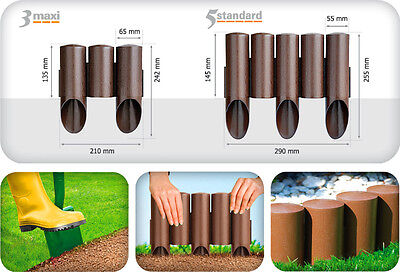 Very Strong Garden Plastic Palisade for lawn flowerbeds separating