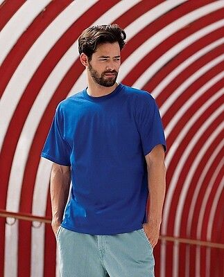 Mens Russell Super Ringspun Cotton Classic T-Shirt Tee Crew Round Neck