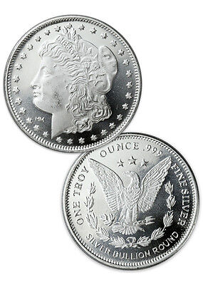 Morgan Dollar Design 1 Troy Oz .999 Fine Silver Rounds SKU31046
