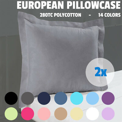 2x New Multicolor Choice Tailored Edge Poly Cotton European Pillow case 65x65cm