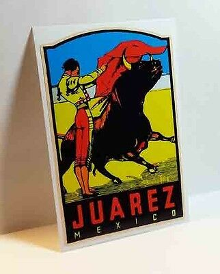 Juarez Mexico Vintage Style Travel Decal / Vinyl Sticker, Luggage Label