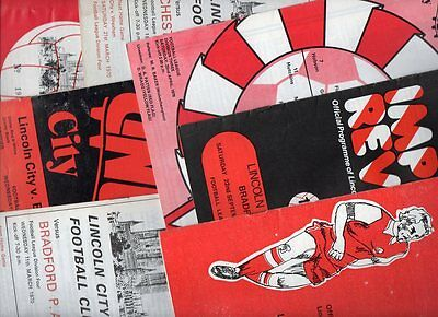 Lincoln City HOME programmes 1970's choose from list FREE UK P&P