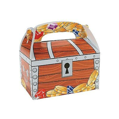 Treasure Chest Gift Boxes W/handles (Lot Of 12) New Pirate Party