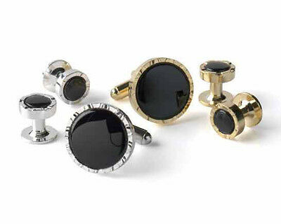Genuine Onyx in V-Etched Setting Choose Silver or Gold Plated