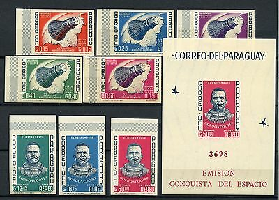 Paraguay 1966 Space MNH Imperf Set + M/S #A60861