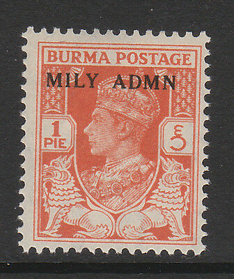 BURMA 1945 1p RED-ORANGE SG 35 MNH.