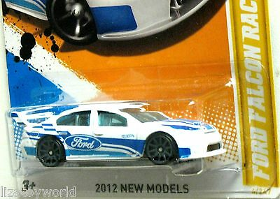 Ford Falcon Race Car Hot Wheels 2012 New Models #4/50 White/Blue