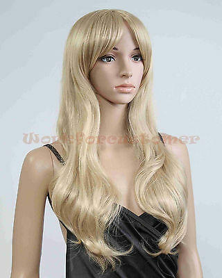 Promotion Western Lady Long Curly Hair Cosplay women Girl Hair Full Wig Free Cap