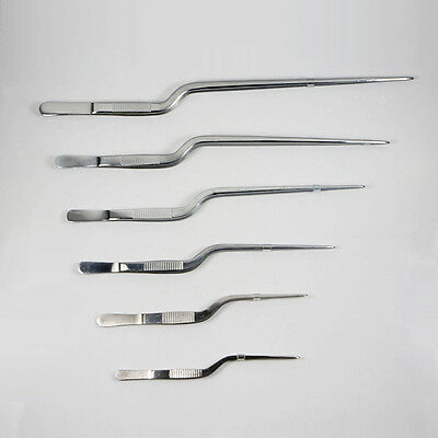Tweezers Atraumatic Forceps Angled Clamp Surgical Instruments Stainless Steel