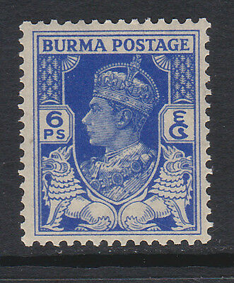 BURMA 1938 6p BRIGHT BLUE SG 20 MNH.