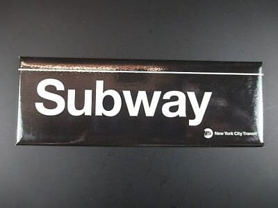 Subway U-Bahn New York City Magnet MTA Transit  Souvenir,12 cm