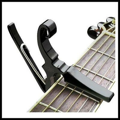 """Kyser 6 String Quick Change Capo - Drop """"D"""" leaves Low E open for Drop Tuning"""