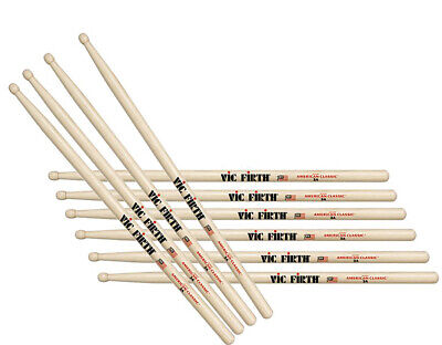 Vic Firth VF-3A American Hickory 3A Wood Tip Drum Sticks Five Pair Offer