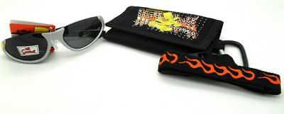 The Simpsons Bart Simpson Kids Boys 100% UV Protection Sunglasses & Wallet Set