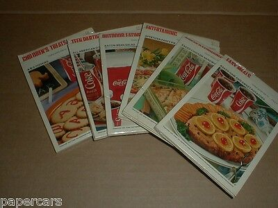 Vintage 1978 Coca-Cola 60 Recipe Card Collection Set #1-6 Sealed Packs NIP lot