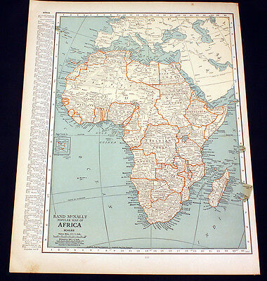 Antique Map Africa or Japan 1922
