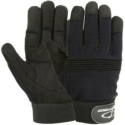 Mechanics Glove Safety Work Military Garden Synthetic Leather Riggermen Gloves L