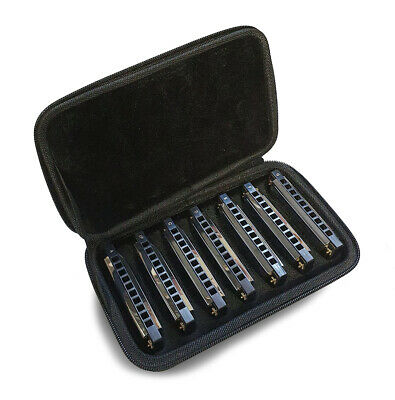 Stagg Howlin Harp Blues Harmonica Set Including Case BJH-B20 SET1