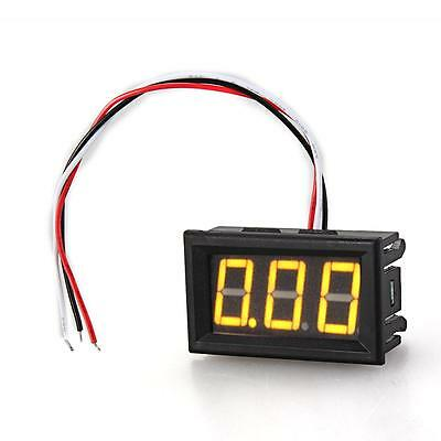 DC 0V-30V Mini Yellow Digital Voltmeter Tester Three-Wire