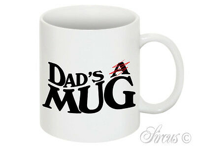 Dad's A Mug Mens Funny Dad Daddy Birthday Fathers Day Christmas Gift