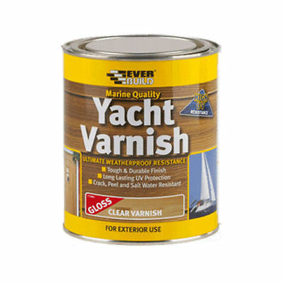 Everbuild Yacht Varnish Clear Gloss 750Ml/2.5L Marine Quality Exterior