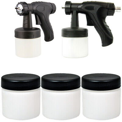 3 14oz Sunless Spray Tanning Solution Gun Cups & Lids Belloccio Turbo Tan G12 QC