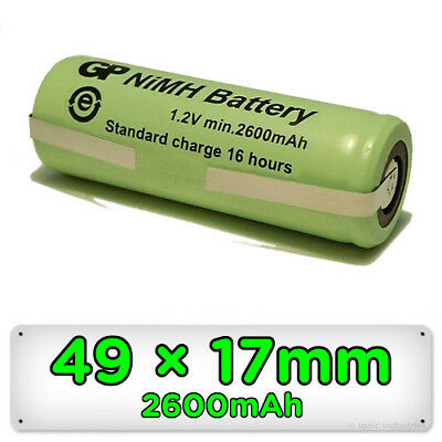 Replacement Battery for Braun Oral-B Toothbrush 49mm x 17mm Ni-MH Rechargeable