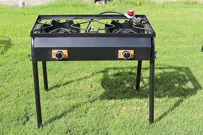 CONCORD Double Burner Outdoor Stand Stove Cooker w/ Regulator Brewing Equipment