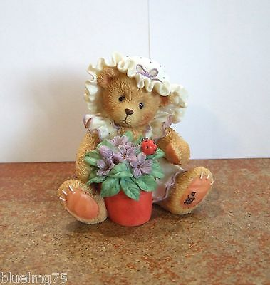 Enesco Cherished Teddies Violet Blessings Bloom When You Are Near #156280 (CT2)