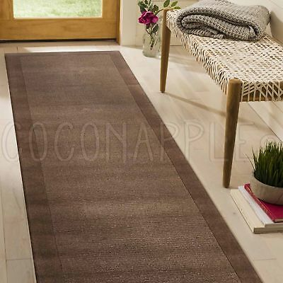 THICK HANDLOOMED NZ WOOL TAUPE MODERN FLOOR RUNNER 80x300cm **FREE DELIVERY**