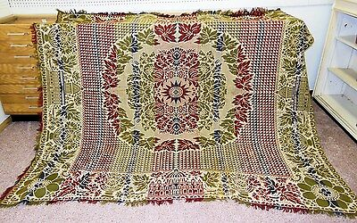 Anitque Late 1800's Decorative Coverlet