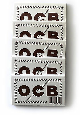 5 booklets x OCB No 4 Double rolling paper - 500 papers