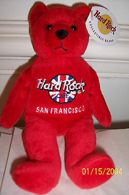 Hard Rock Cafe Limited Edition Teddy Bear From San Francisco