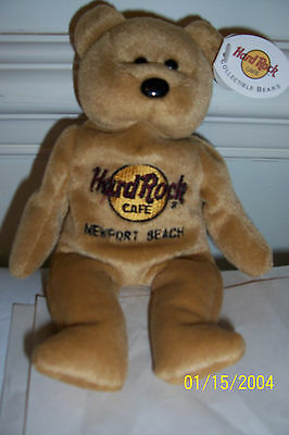 Hard Rock Cafe Limited Edition Teddy Bear From Newport Beach