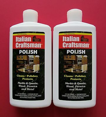 Italian Craftsman Polish 2-16oz Bottles Marble Polish FREE USPS PRIORITY MAIL
