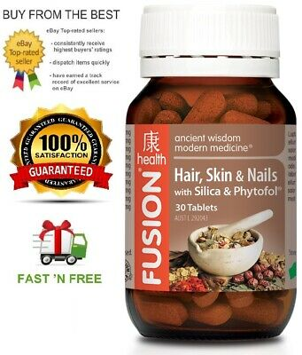 Fusion Health Hair Skin & Nails 30T - Nourish And Strengthen + Free Shipping