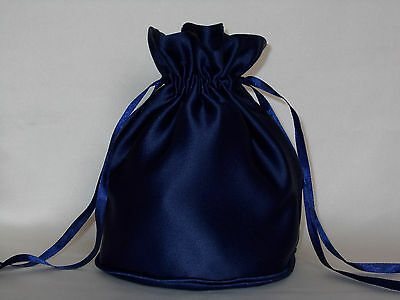 Navy duchess satin dolly bag for bridesmaid / evening wear / prom
