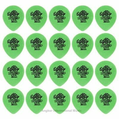 Dunlop Tortex Tear Drop 20 Green Picks 20 x 0.88 mm  Guitar Picks / Plectrums