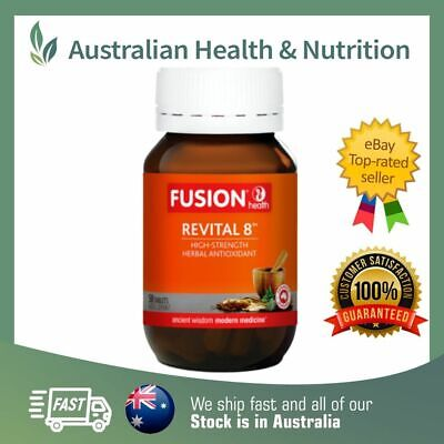 Fusion Health Revital 8 50T - Resveratrol + Potent Antioxidants + Free Sample
