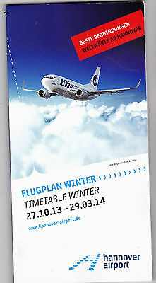 Timetable hannover airport Winter 27.10.13-29.03.14