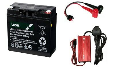 Yuasa REC22-12 22ah Golf Battery, Cable and Charger Combo, Hillbilly Mocad Etc