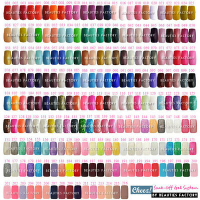 PRO 1-216 Full Color Collection Cheez Soak Off UV Gel Polish Nail Pick 1 Colour