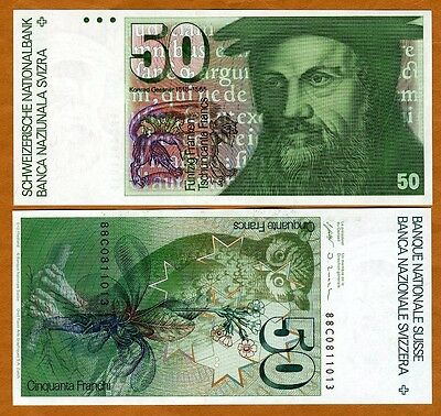 Switzerland, 50 Francs, 1988, P-56 (56h), UNC