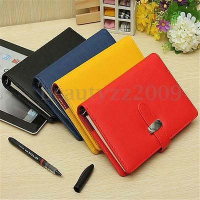 Identity Diary Personal Planner Organiser Leather Hook Note Book Filofax Gift