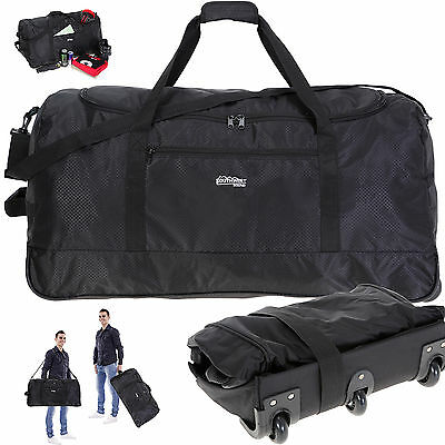 Trolley SOUTHWEST LIGHT WEIGHT XXL 80 cm 118 L faltbar Rollreisetasche SCHWARZ