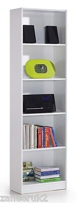 Milan White Gloss Bookcase Bookshelf Shelf Home Office Furniture